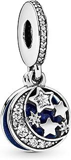 Pandora 潘多拉 女士银珠饰——791993CZ,蓝色