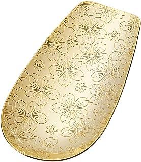 青芳 茶叶 金色 W4×L7.9cm 不锈钢茶箕樱花 镀金 日本制造 019791