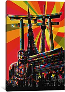 "iCanvasART 1 Piece Tokyo Psychedelic Pop Canvas Print by Ginger, 26 by 18""/0.5"" Deep"