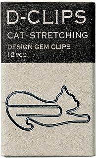 MIDORI D-clips mini盒装(12枚)伸展的猫 回形针