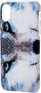 Elecom宜丽客 iPhone8 保护壳 保护套 软质 TPU材料 animal eye 动物 生存货架PM-A17XUCAT08 オオカミ