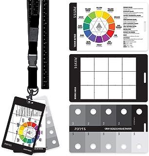 灰色比例价值发现器,彩色车轮,艺术家查看捕手者搜索器,挂绳上取景器,带测量带工具,适合艺术家绘画