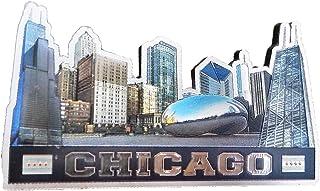 芝加哥城市天际线纪念品超磁冰箱贴