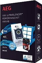 AEG ASKVX8 過濾袋/集塵袋優惠套裝,適用于 VX8-1,VX8-2-,VX8-?ko,Usgreen, USECO,4 個原裝袋 GR201S,AllergyPlus 過濾器,s-Fresh 香薰顆粒,高貴夜玫瑰