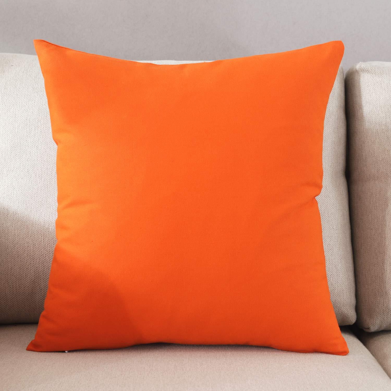 方形纯色指甲_taoson 家居装饰棉帆布方形抱枕套靠垫套纯色枕套带隐藏拉链闭合多色