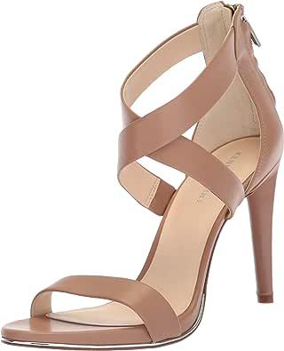 Kenneth Cole New York Brooke 女士交叉带礼服凉鞋 拿铁白 5.5 M US