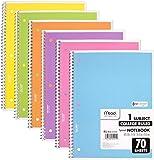Mead Spiral 笔记本,学院横杆,1 主题,混色 每包6条 多种颜色