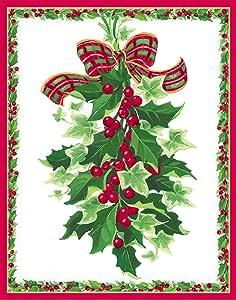 娱乐活动与 caspari 霍莉和 IVY 圣诞贺卡 (一盒16)