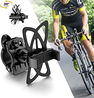 DAWNDEW 2020 自行车和摩托车手机支架 - 高度可调节的车把手机支架是自行车滑板车**可靠,适用于:iPhone11、XR、XS、8、8 Plus、三星等