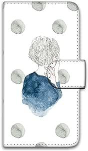 卡丽 壳 印刷手册 女童和圆点 智能手机壳 手册式 对应全部机型 女の子とドットE 2_ Xperia L2 H4331