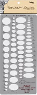 Pickett 等轴测六角螺母和头模板 11 Master Isometic Ellipse 灰色