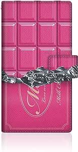 CaseMarket 【手册式】 docomo AQUOS ZETA SH-01H 超薄外壳 针脚模型 [ 板巧 收藏 巧克力 日记 - 可可可 ] 皮革手册 针脚 & 挂绳孔SH-01H-VCM2S2264 莓红色(草莓)