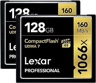 Lexar Professional 1066 x 128GB CompactFlash Card LCF128CRBNA10662-2 Pack