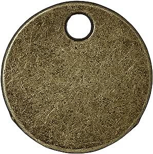 PEPPERLONELY 仿古合金吊坠 10#. Bronze Blank Round Charms