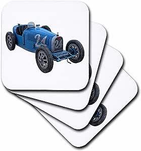 boehm 图形汽车–经典浅蓝色赛车–杯垫