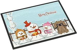 Caroline's Treasures BB2433MAT Merry Christmas Carolers Pekingnese 棕褐色室内或室外垫,45.72 x 68.58 厘米,多色