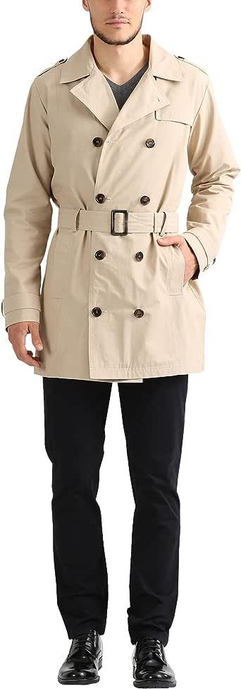 james tyler 男式风衣外套带腰带  米色 Large