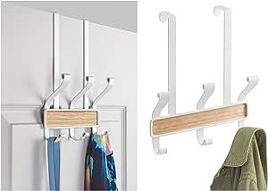 InterDesign Realwood 门上 10-挂钩大衣 White and Light Wood 90080