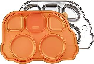 Innobaby 依路比 Din Din Smart 不锈钢分隔餐盘 带分格密封盖 适合婴幼儿、儿童,不含BPA
