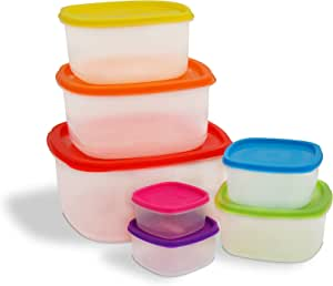 Ragalta RPS-500 14 Piece Food Storage Container Set, Clear