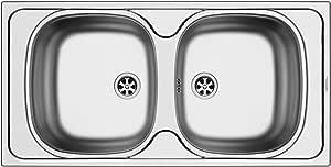 Pyramis E 33/33 100150802 内置厨房水槽/光滑不锈钢