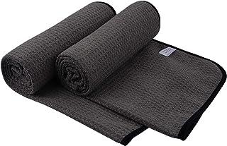 SUNLAND 超细纤维健身毛巾 适合锻炼,*吸水性,防滑,无伤害,*好的 Bikram 健身毛巾 - 锻炼,健身,普拉提,43.18 x 111.76 厘米,2 件装