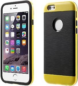 iPhone 6 Plus 拉绒 TPU 和 PC 保护壳 - 黄色