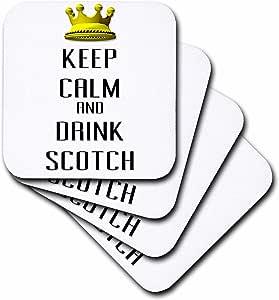 blonde Designs 金皇冠适用于 KEEP CALM 各种 things–金色皇冠 KEEP CALM and DRINK Scotch–杯垫