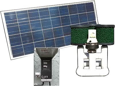 Natural Current Savior 底部喂食器 池塘太阳能泵和过滤系统,120-瓦