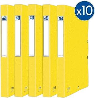 Oxford Eurofolio+ 纸板,带松紧带,标准容量,24 x 32厘米,背面25毫米,配有卡片封面,黄色,10件