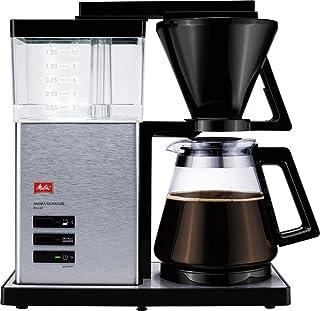 Melitta 香郁典雅,1012-01,过滤式咖啡机,带玻璃杯,黑色/拉丝钢 黑色/不锈钢 10 Tassen 6677992