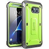 Galaxy S7 手机壳,SUPCASE 全包坚固皮套,带内置屏幕保护膜,适用于 Samsung Galaxy S7(2016 年版),Unicorn Beetle PRO 系列 - 零售包装SUP-GalaxyS7-UBPro-Green/Gray  (green/Gray)