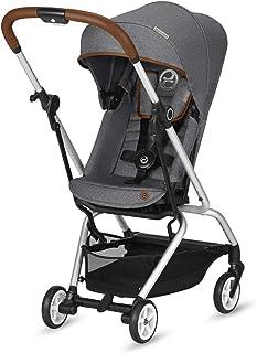 CYBEX Gold Buggy Eezy S Twist,360°可旋转座椅,超紧凑,重量轻,自出生至17千克(约 4 岁),牛仔布系列,曼哈顿灰