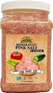 Himalayan Chef 100% Natural Pink Salt Jar, 5 Pound Coarse Grains