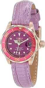 Invicta 女士 11717 Pro Diver 紫色表盘紫色皮革手表