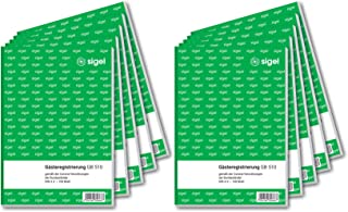 SIGEL GB510 表格书籍 客人注册 corona-cc 10 件装