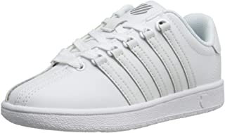 K-Swiss Classic Vintage PS Tennis Shoe (Little Kid),White/White,13 M US Little Kid