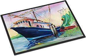 "Caroline's Treasures Shrimper Southern Star Indoor or Outdoor Mat, 18"" x 27"", Multicolor"