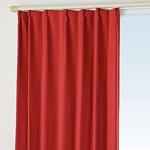 NBL 1 级遮光窗帘 防火 形状*加工 B 型挂钩 17.深红色 幅300×丈190cm 1枚 -
