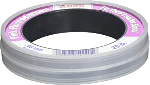 Ande FPW-50-20 Fluorocarbon Leader Material, 50-Yard Spool, 20-Pound Test, Pink Finish