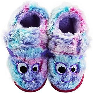 女孩猫头鹰家居拖鞋毛绒可爱动物防滑钩环温暖柔软家居鞋