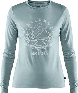 FJALLRAVEN 女式 Abisko 羊毛 Tältplats Ls W T 恤