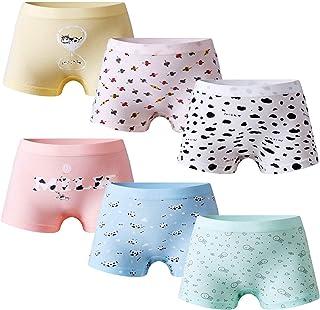 成长伙伴 6 条装柔软纯棉女童内裤四角裤小女孩内裤幼儿内衣