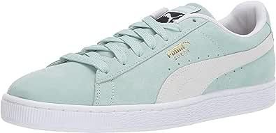 PUMA 彪马 男式 Suede 经典运动鞋 Fair Aqua-puma White 7.5