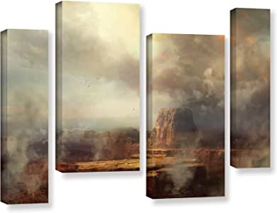 """ArtWall 4 Piece Philip Straub's Before The Rain Gallery Wrapped Canvas Staggered Set, 24 x 36"""""""