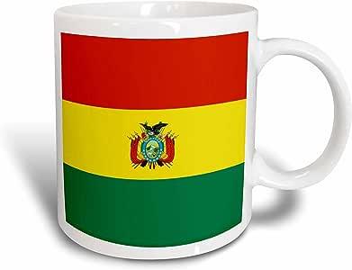 3drose inspirationzstore 国旗–bolivian 国旗与盾形–玻利维亚红色黄色绿色条纹–WORLD 州国旗–LA tricolor–马克杯 白色 15盎司