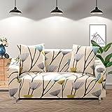Lamberia 印花沙发套弹力沙发套沙发套适用于情侣和爱人枕套,带一个枕套 Dandelion Sofa-4 Seater dandelion-4