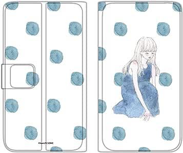 卡丽 壳 手册式 薄型印刷手册 座位女孩WN-LC875303_ML 2_ Xperia ZL2 SOL25 坐着的女孩 A