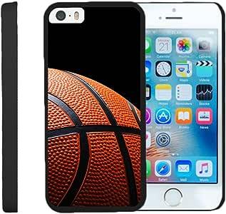 兼容苹果 iPhone SE 手机壳—— iPhone 5/5s 手机壳【超薄双面】紧凑型硬扣手机壳纤薄手机壳黑色运动和游戏由 TurtleArmor 出品 -4326482149 Basketball Seams
