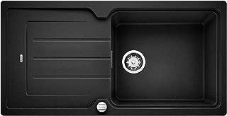 BLANCO 鉑浪高 CLASSIC NEO 6 S 廚房水槽 花崗巖水槽 Silgranit PuraDur 花崗巖材料 1 件 亮黑色 60 cm Unterschrank - XL-Becken